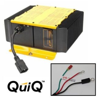 Delta Q QuiQ Golf Cart Charger 48v 48 volt 18 amp with eyelet terminal connectors