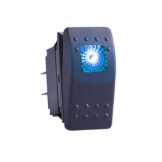 Golf Cart Accessory Switch 12v ON/OFF With Square LED Light BLUE