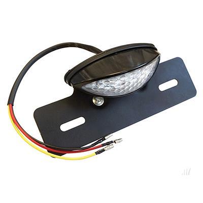 Golf Cart License Plate Holder w/ LED Tag Running and Brake Light