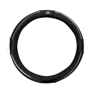 Golf Cart Steering Wheel Cover Universal Black and Chrome