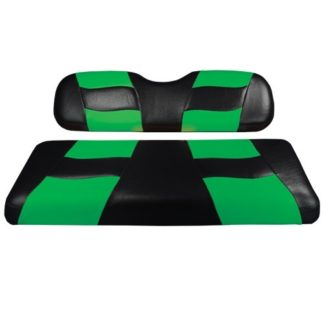 Madjax Golf Cart Seat Cover Set Black and Lime Riptide Club Car Prec 10-186