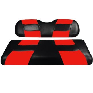 Madjax Golf Cart Seat Cover Set Black and Red Riptide Club Car DS 10-115