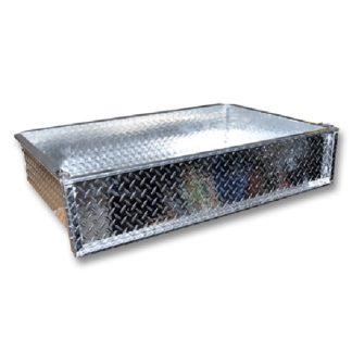 Universal Golf Cart Truck Bed Aluminum Diamond Plate Box Only