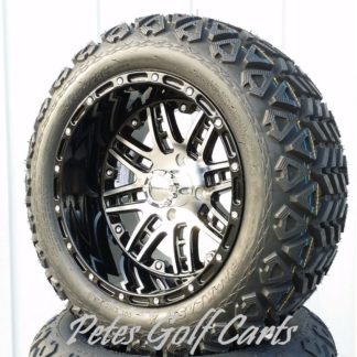 golf cart wheels and tires 14in Megastar on 23in All Terrain Tire WM